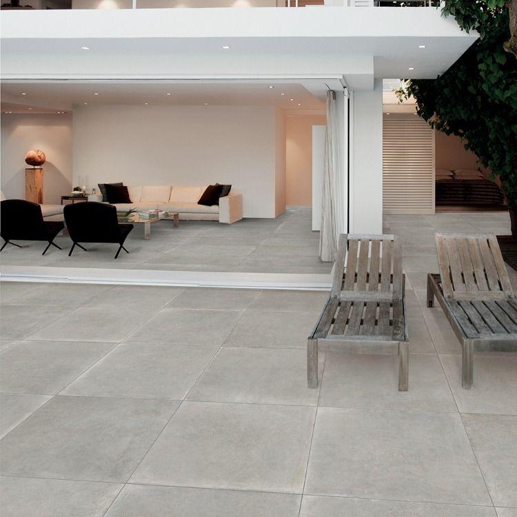 Carrelage Terrasse Exterieure Effet Beton 80x80 Sand Grip Rectifie