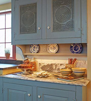 Tin Punch Doors Updated Kitchen Designs Kitchen Design Farmhouse Kitchen