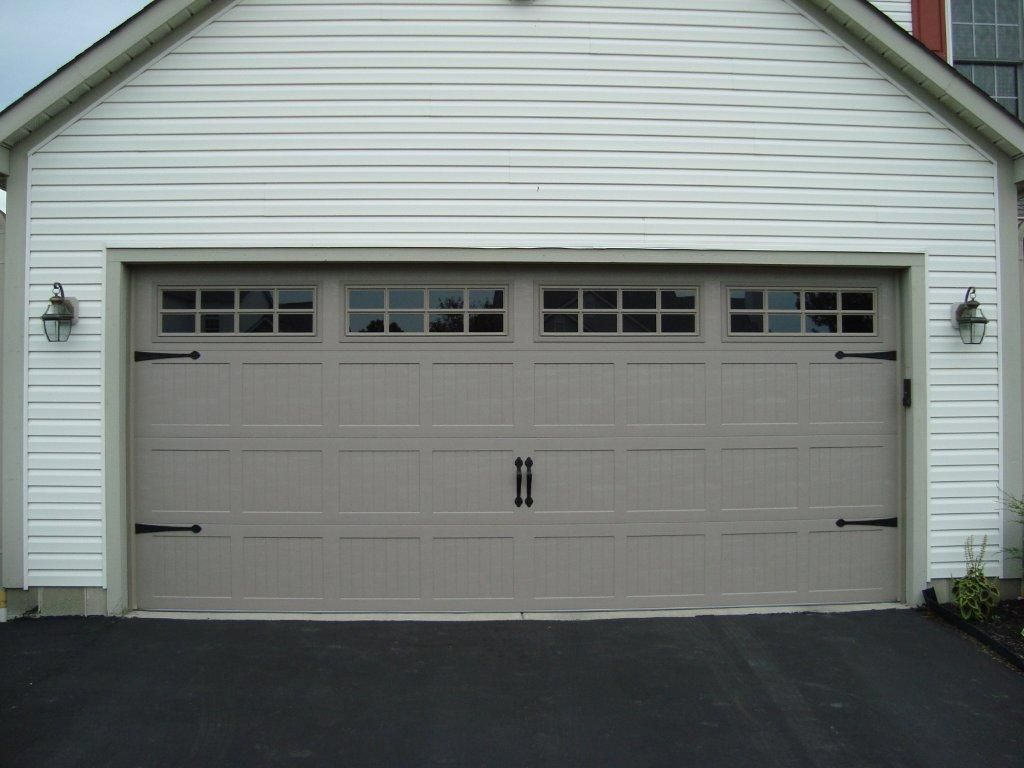 Wilson nc insulated garage door cost - C H I 5283 Short Panel Sandstone Carriage House Insulated With Stockton Windows