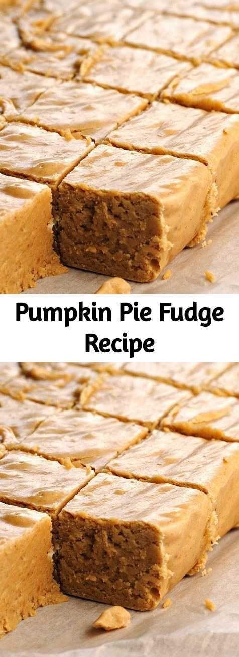 Pumpkin Pie Fudge Recipe -