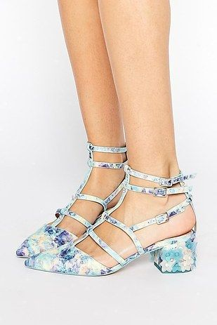 These adorable caged mini-heels. | 31 Pairs Of Heels That Are Perfect For Spring