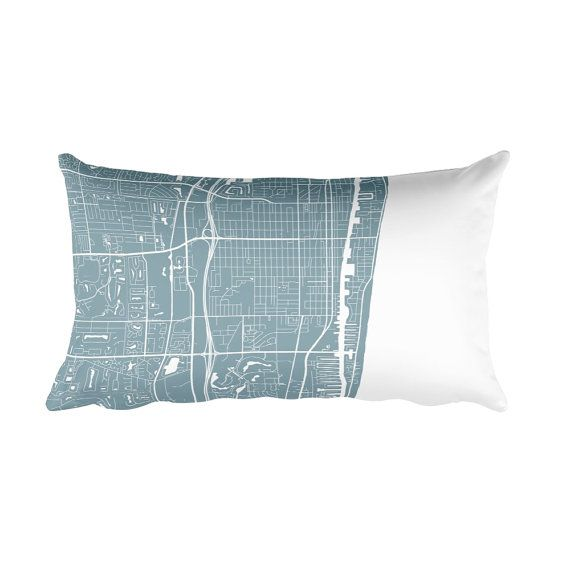 Delray Beach Florida Map.Delray Beach Pillow Delray Beach Decor Delray Cushion Delray