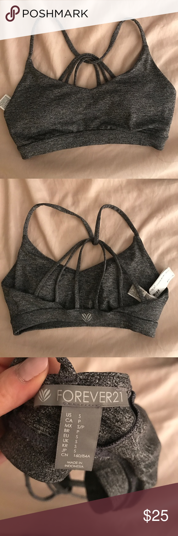 674d602aa9 Forever 21 Active Sports Bra Size  small  color  grey Forever 21 Intimates    Sleepwear Bras