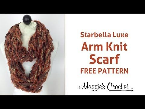 Arm Knit Scarf With Starbella Luxe Right Handed Youtube Free