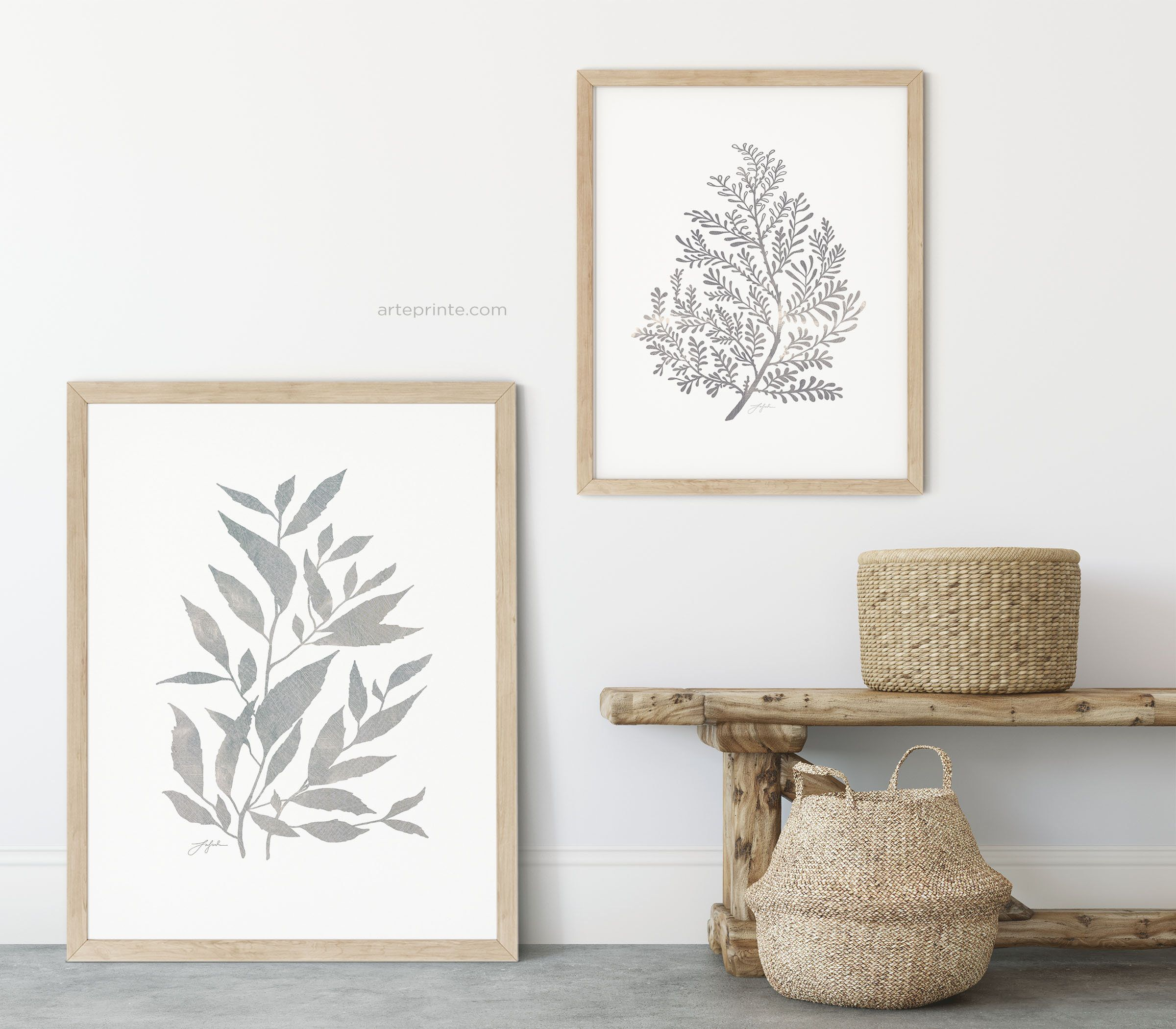 Modern Botanical Wall Art Abstract Plants Prints Wall Art Set Etsy Botanical Wall Art Wall Art Sets Original Wall Art