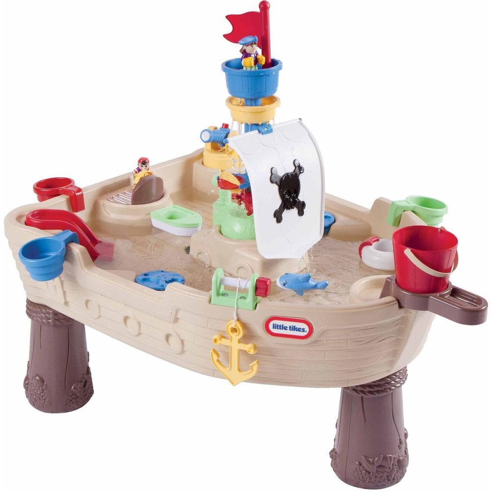 Outdoor Kids Toy Toddler Game Water Sand Box Pirate Ship Activity ...