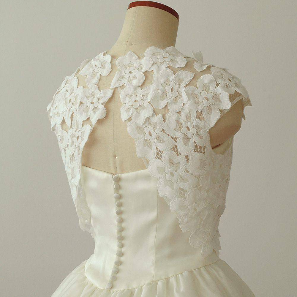 ウエディング小物の専門店 ウエディング レースボレロ ドレス