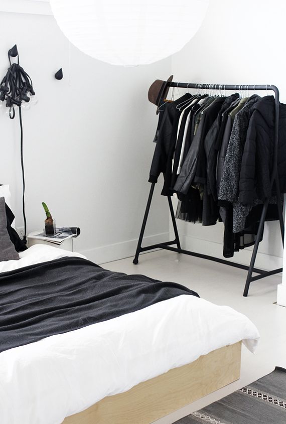 Bedroom clothes rack inspiration | Clothes racks, Merry and Bedrooms