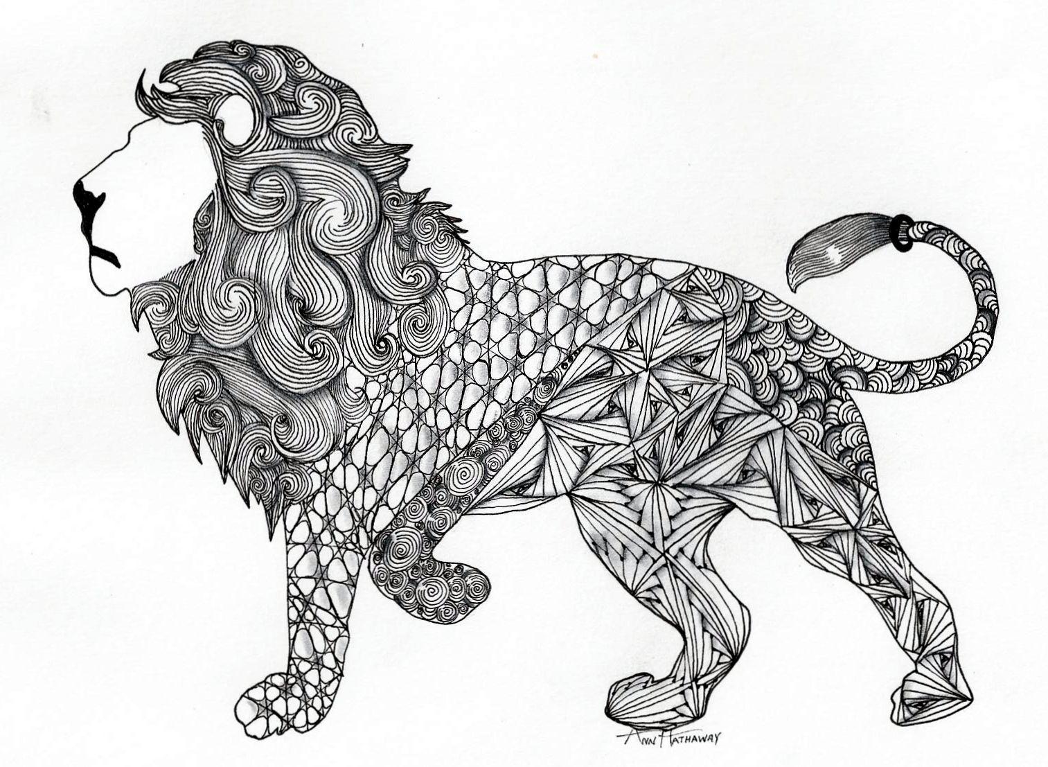 Zentangle Lion Google Search Zentangle Zendoodle Dieren