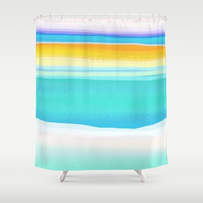 The Arctic Sea Abstract 2 Shower Curtain Sea Ocean Landscape