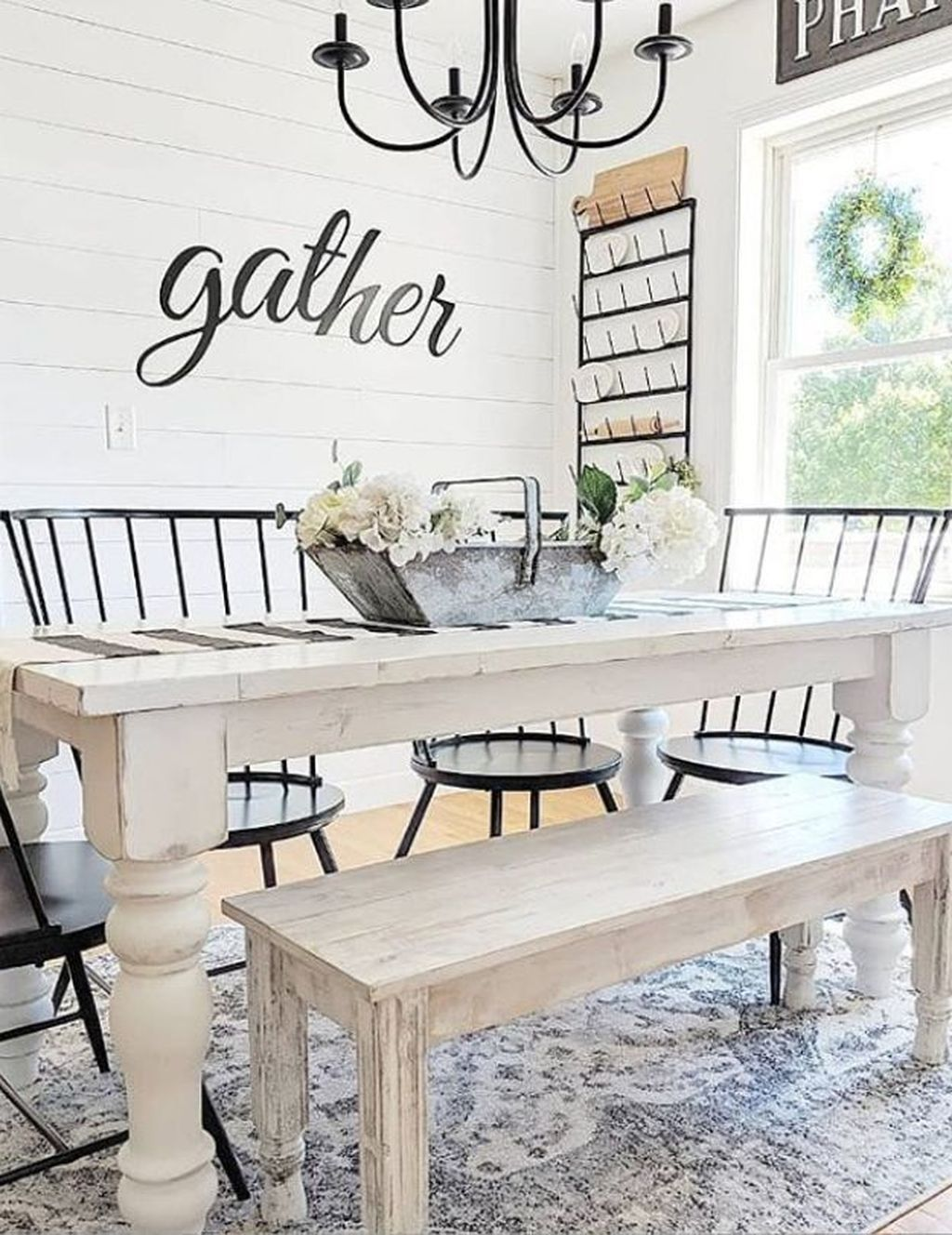 47 Awesome Dining Room Rug Design Ideas In 2020 Farmhouse Dining Room Farmhouse Dining Room Table Farmhouse Dinning Room