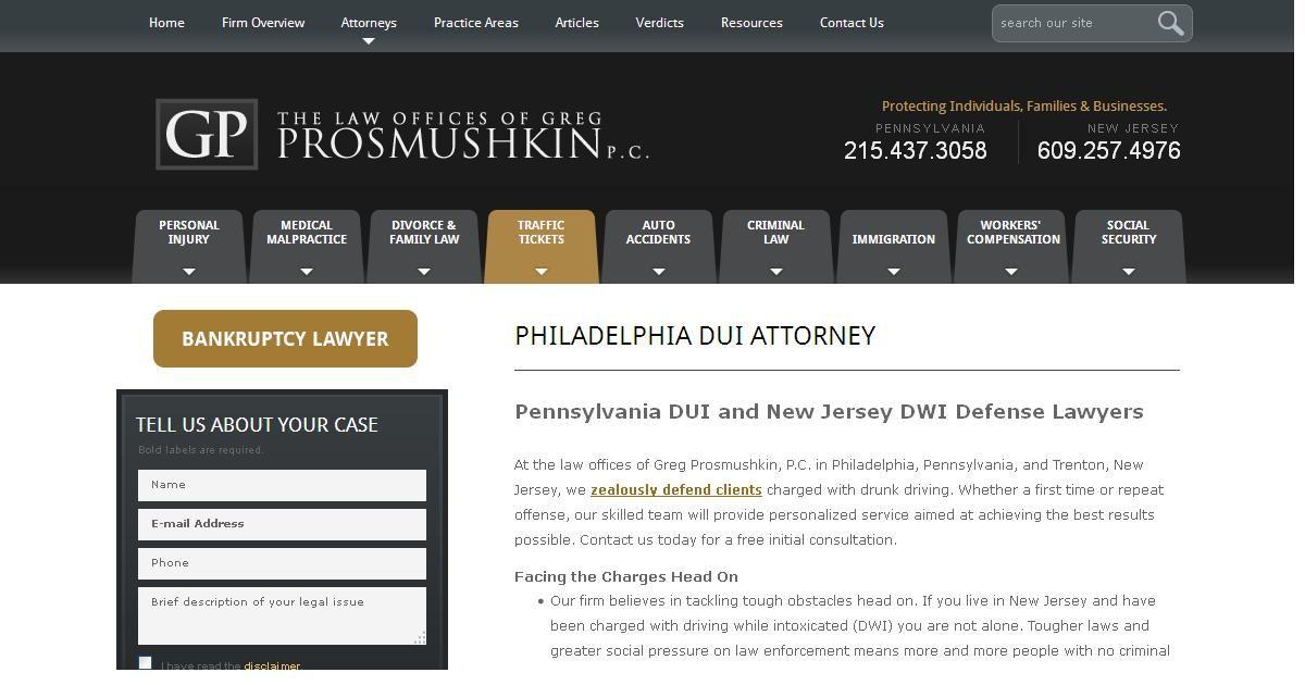 Traffic Ticket Attorney In Philadelphia 2154373058