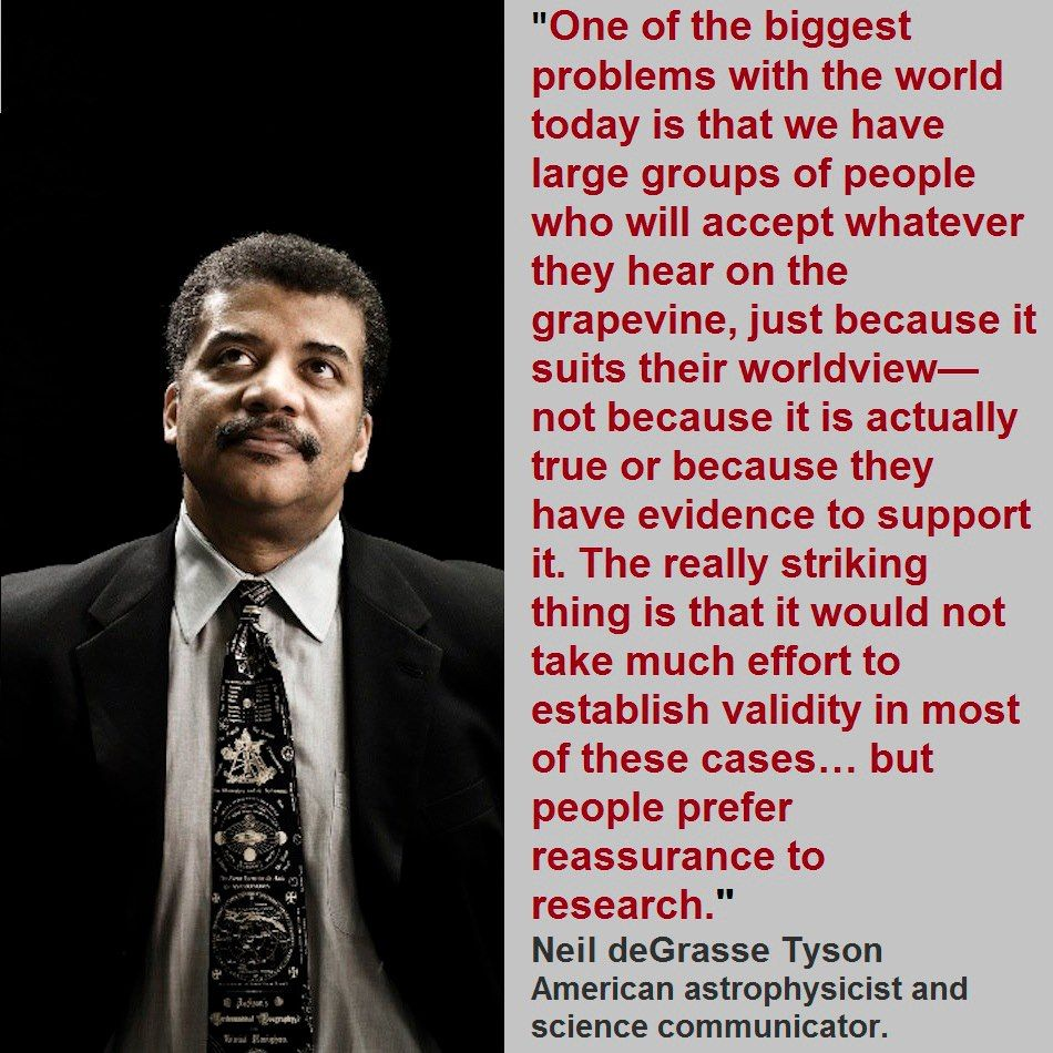 Neil deGrasse TysonA fake quote from him, but he