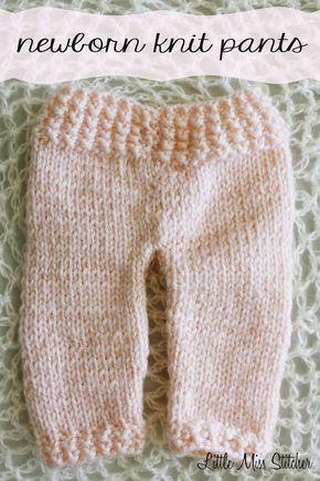 Little Miss Stitcher Newborn Knit Pants Free Pattern Newborn