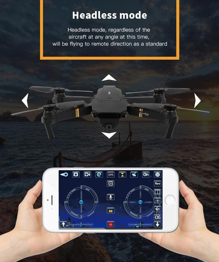 Hawkeye Quadcopter Wifi Hd Camera Drone Headless Mode Camera