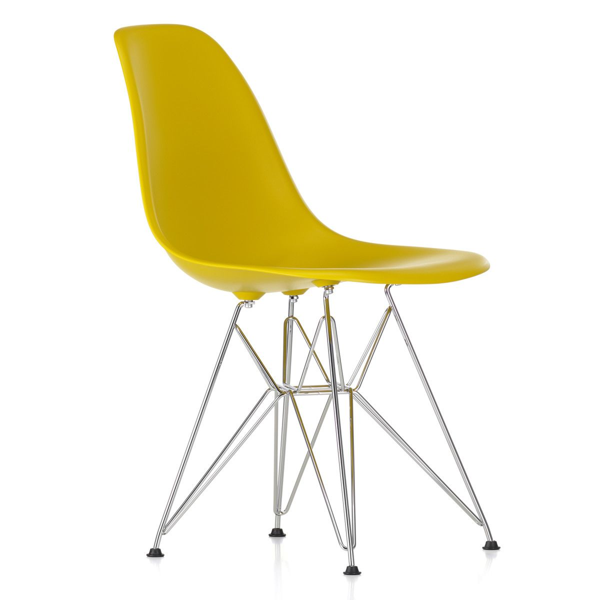 Vitra Eames Side Chair Vitra Eames Plastic Side Chair Dsr Verchromt Weiß