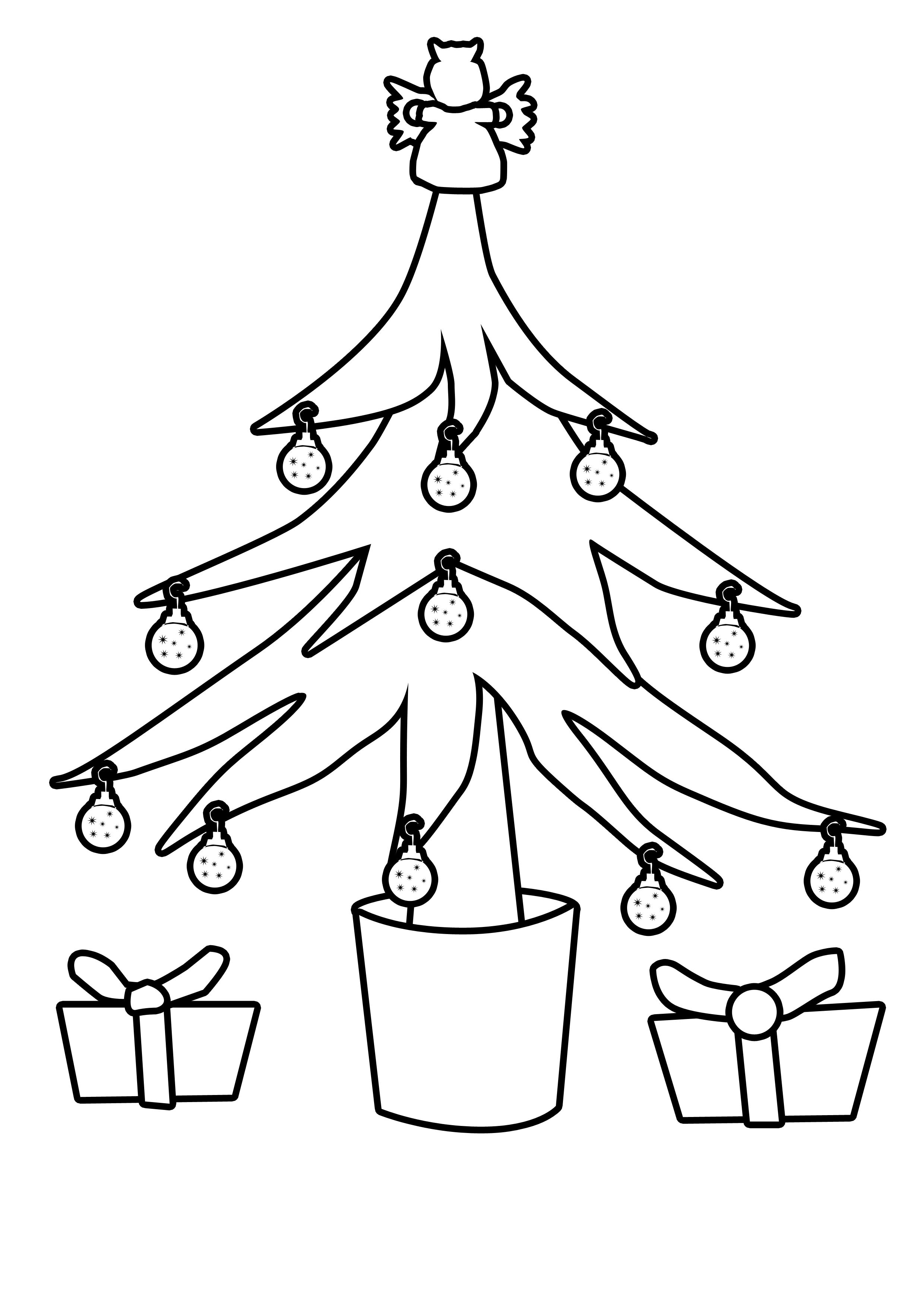 Christmas Tree Outline Christmas Tree Outline for