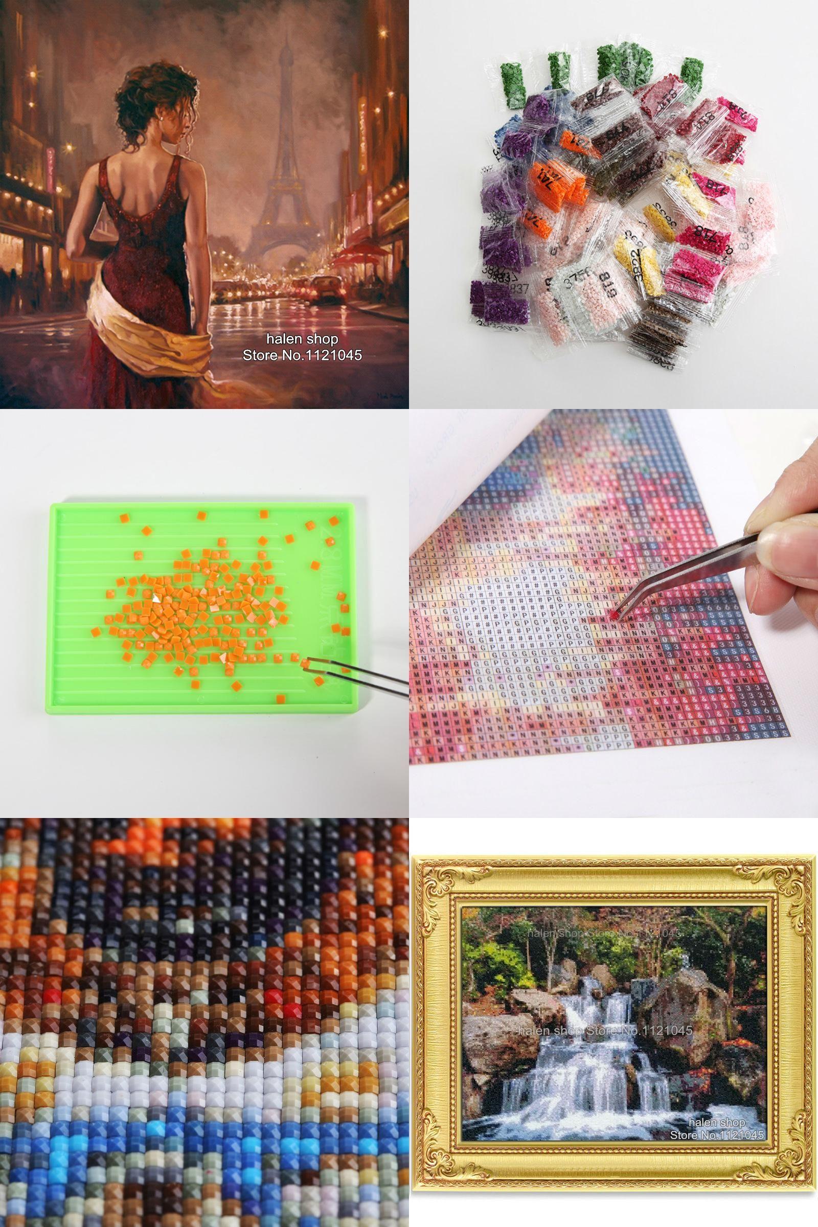 5D Diamond Painting Cross Stitch Kit Needlework Rhinestone Beautiful Home Decor