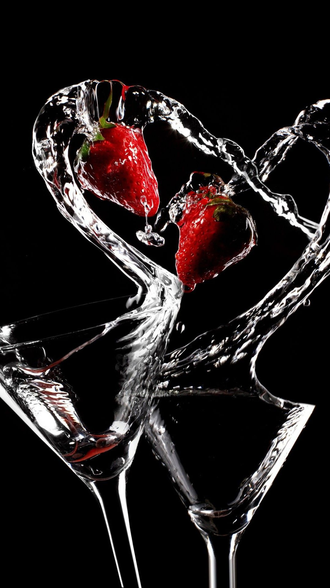 Love Cocktails Black Strawberries Smartphone Wallpaper and ...