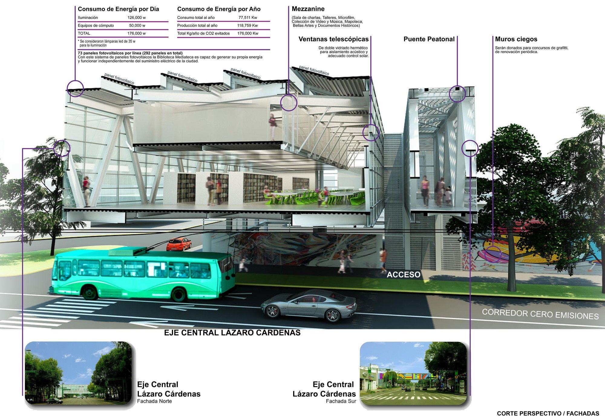 Galería de Primer Lugar Concurso Canacero / Puente Mediateca - 10
