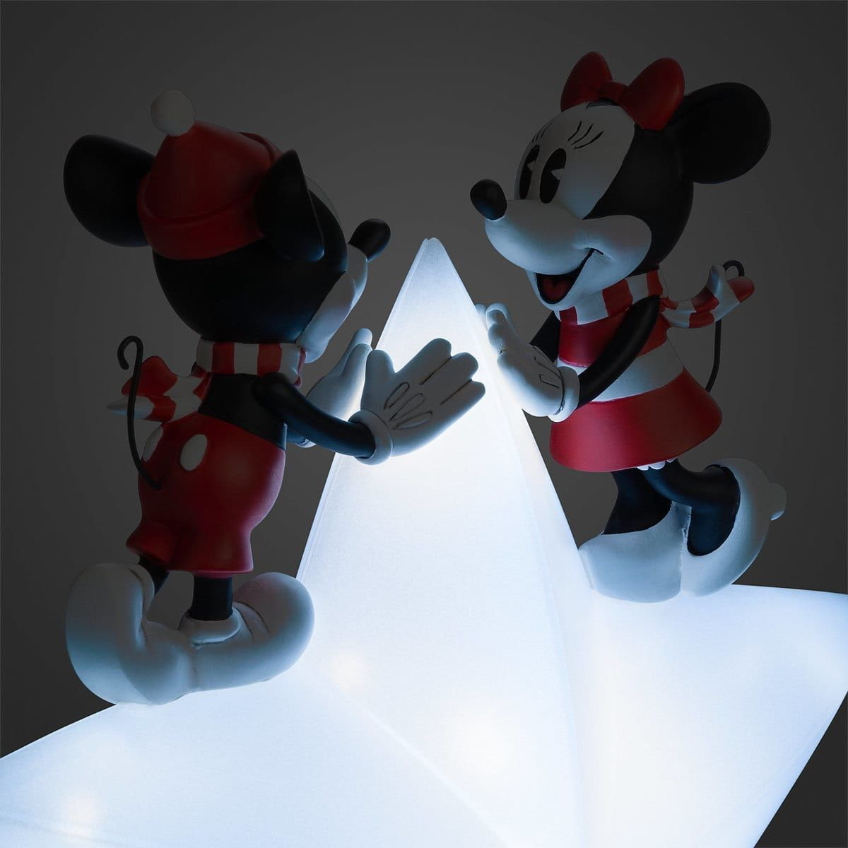Mickey Christmas Tree Topper: Mickey And Minnie Mouse Light-Up Holiday Tree Topper