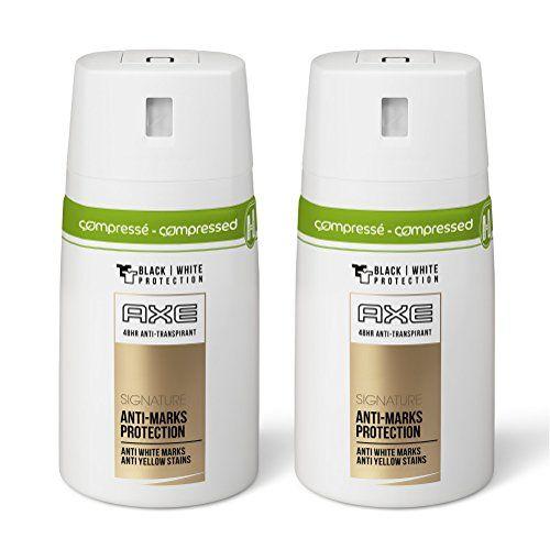 Axe Déodorant Homme Spray Anti Transpirant Signature 100 ml u2013 Lot de - bombe de peinture aluminium