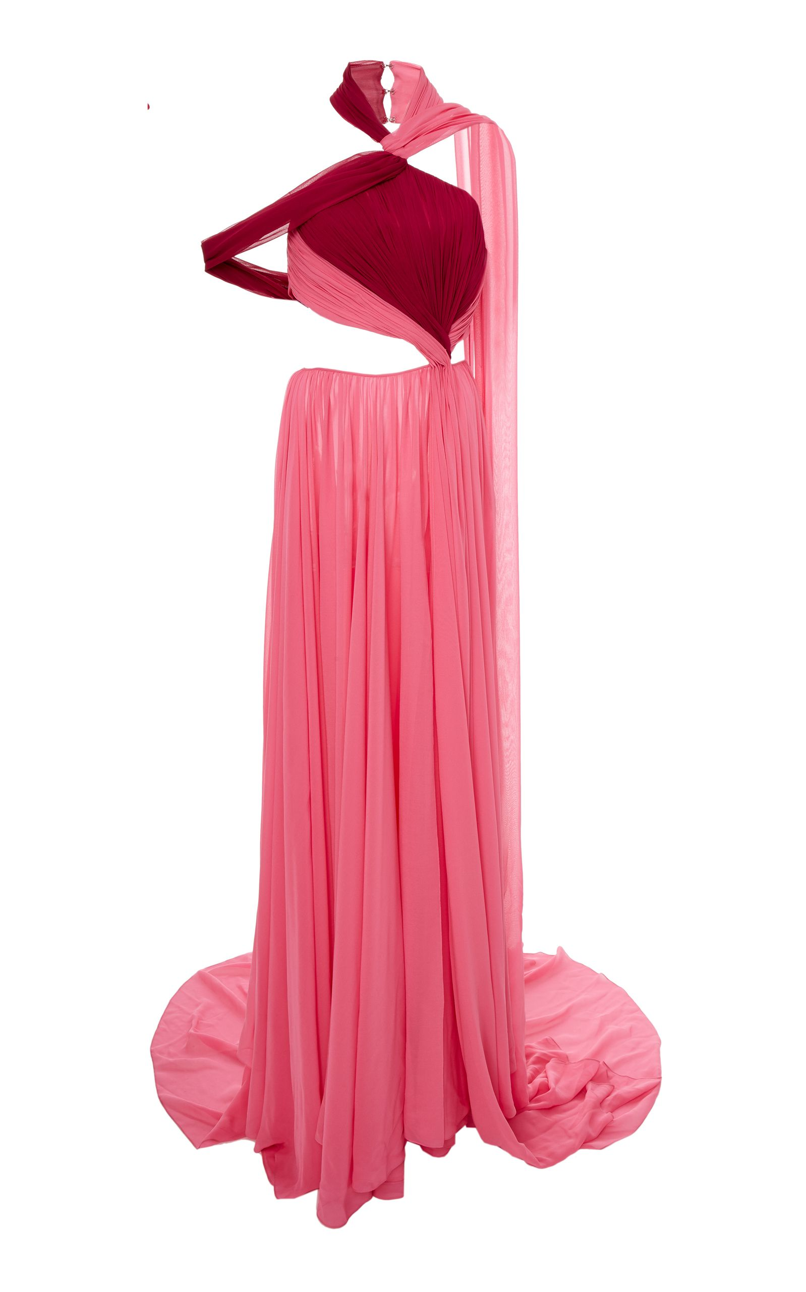 Charlotte Twist Halter Side Cut-Out Gown by PRABAL GURUNG for ...