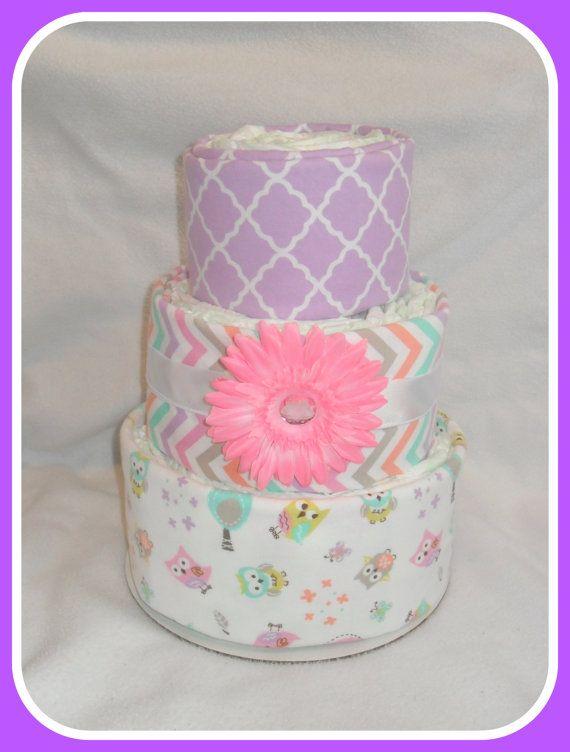 Baby girl owl themed diaper cake amazing baby gift idea by care72 baby girl owl themed diaper cake amazing baby gift idea by care72 negle Images