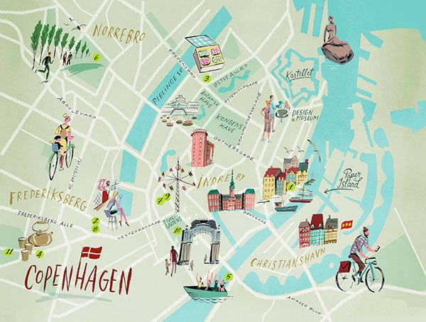 Nik Neves Copenhagen Map Maps Pinterest Copenhagen Map - Sweden map lonely planet