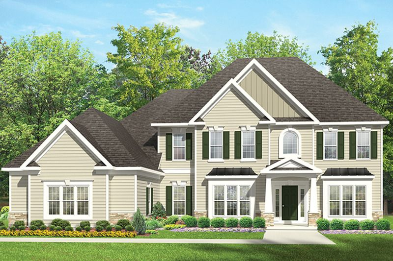 Colonial style house plan 4 beds 25 baths 2977 sqft