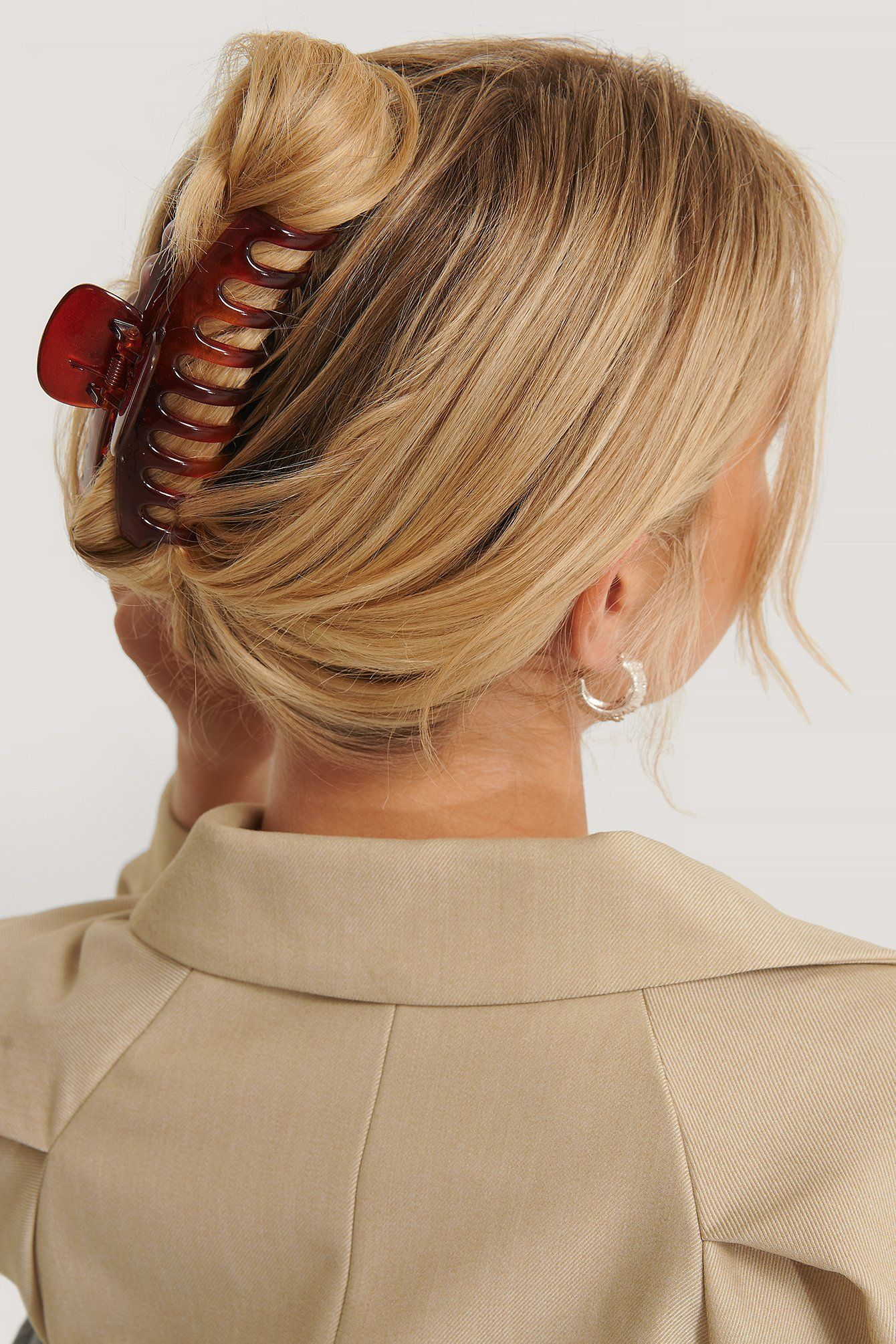 Grosse Runde Harz Haarspange Braun In 2020 Hubsche Frisuren Haar Styling Haarschonheit