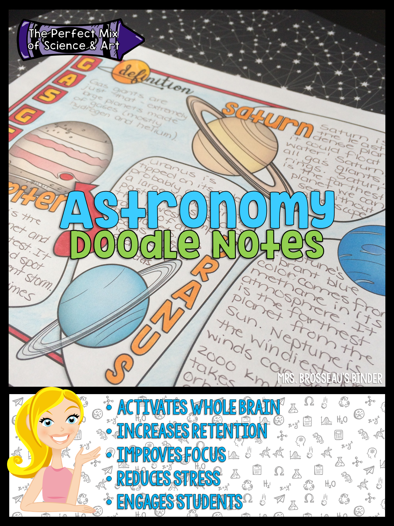 Astronomy Doodle Notes Use Dual Coding To Activate The Whole Brain Increase Retention Improve