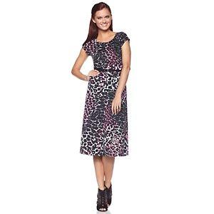 "Tiana B. ""Retro Romance"" Animal-Print Dress"