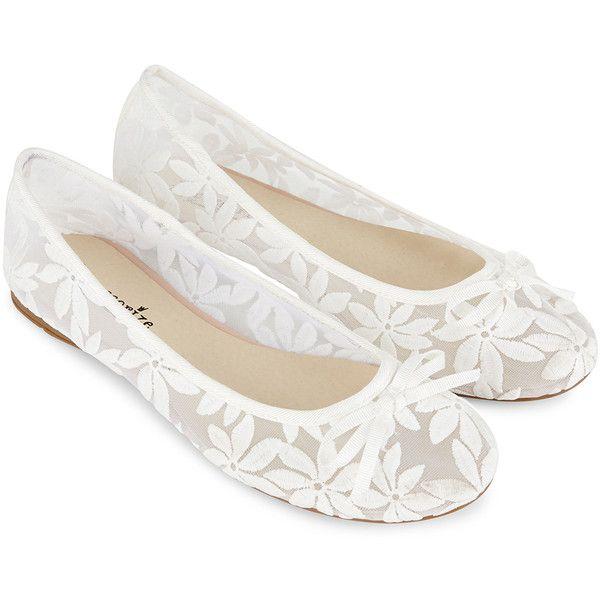 Accessorize Daisy Lace Ballerina Shoes