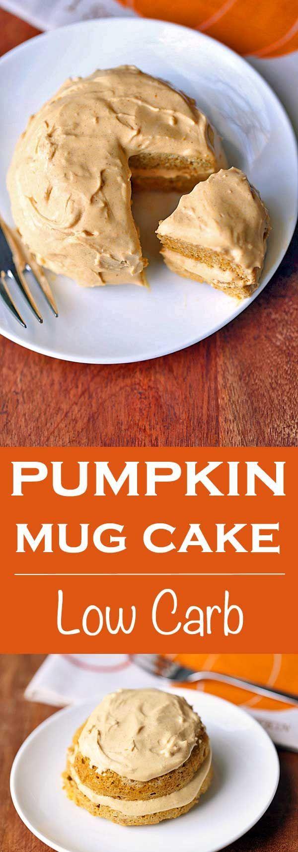 Pumpkin Mug Cake   Recipe   Low carb mug cakes, Pumpkin ...