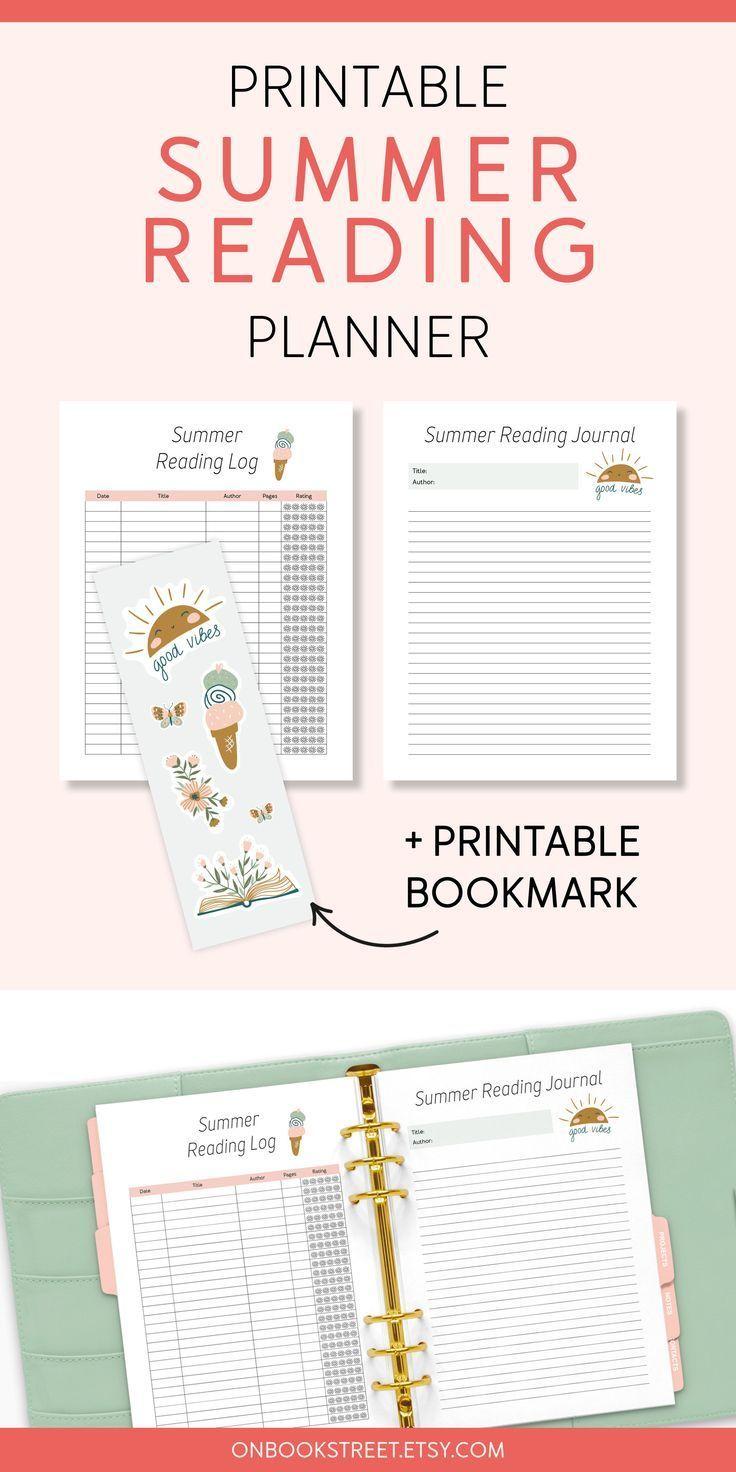 Summer Reading Log PDF Reading Planner Printable Book List