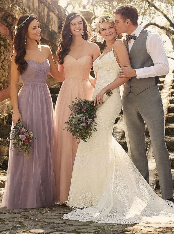 Elegant 2015 Sweetheart Light Purple Long Chiffon Bridesmaid Dresses CHBD-70960