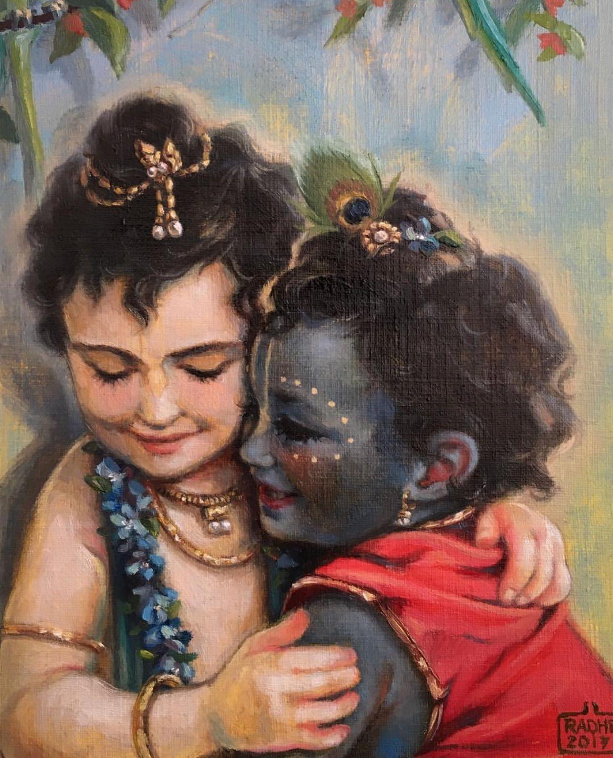 Image result for lord baby krishna and balarama