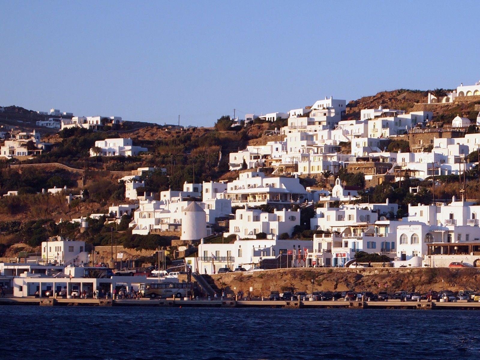 Mykonos Greece Mykonos Greece Houses On Hill 1523 World All