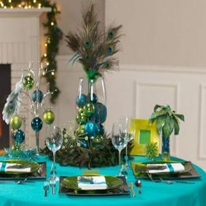 Peacock Wedding Theme, This Has Some Good Ideas For Table Decor.. But I