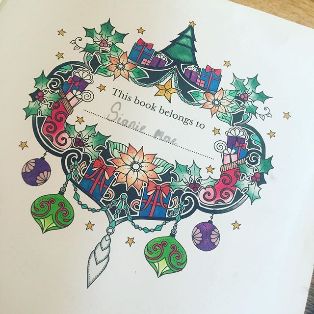 Love Sianiemae S Front Page Of Their Colouring Book By Johanna Basford Christmas Book Which