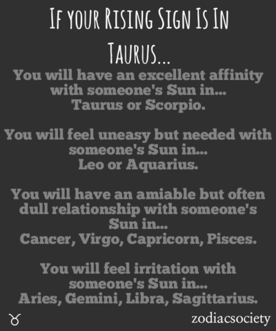 taurus rising sign compatibility