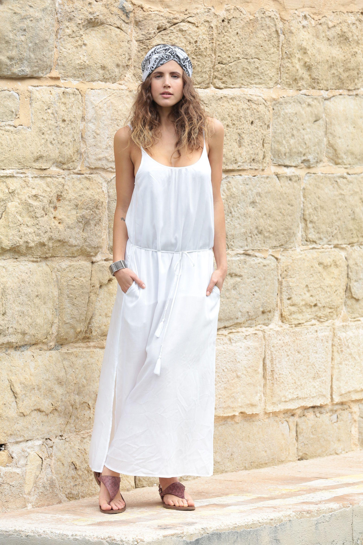 Bianca Strappy Maxi Dress Boho Summer Dresses Bohemian Style Clothing Maxi Dress [ 2880 x 1920 Pixel ]