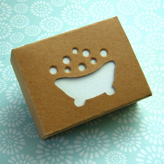 Too cute! This would be a great idea to have your logo design on the box PD #soappackaging