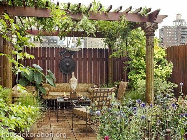 2013/02/paradies Garten Dachterrasse Holz Boden Pergola | Outdoor ... Dachterrasse Im Ostasiatischen Stil