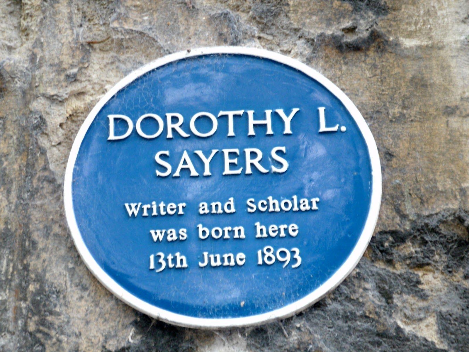 Dorothy sayers blue plaque dorothy author writer