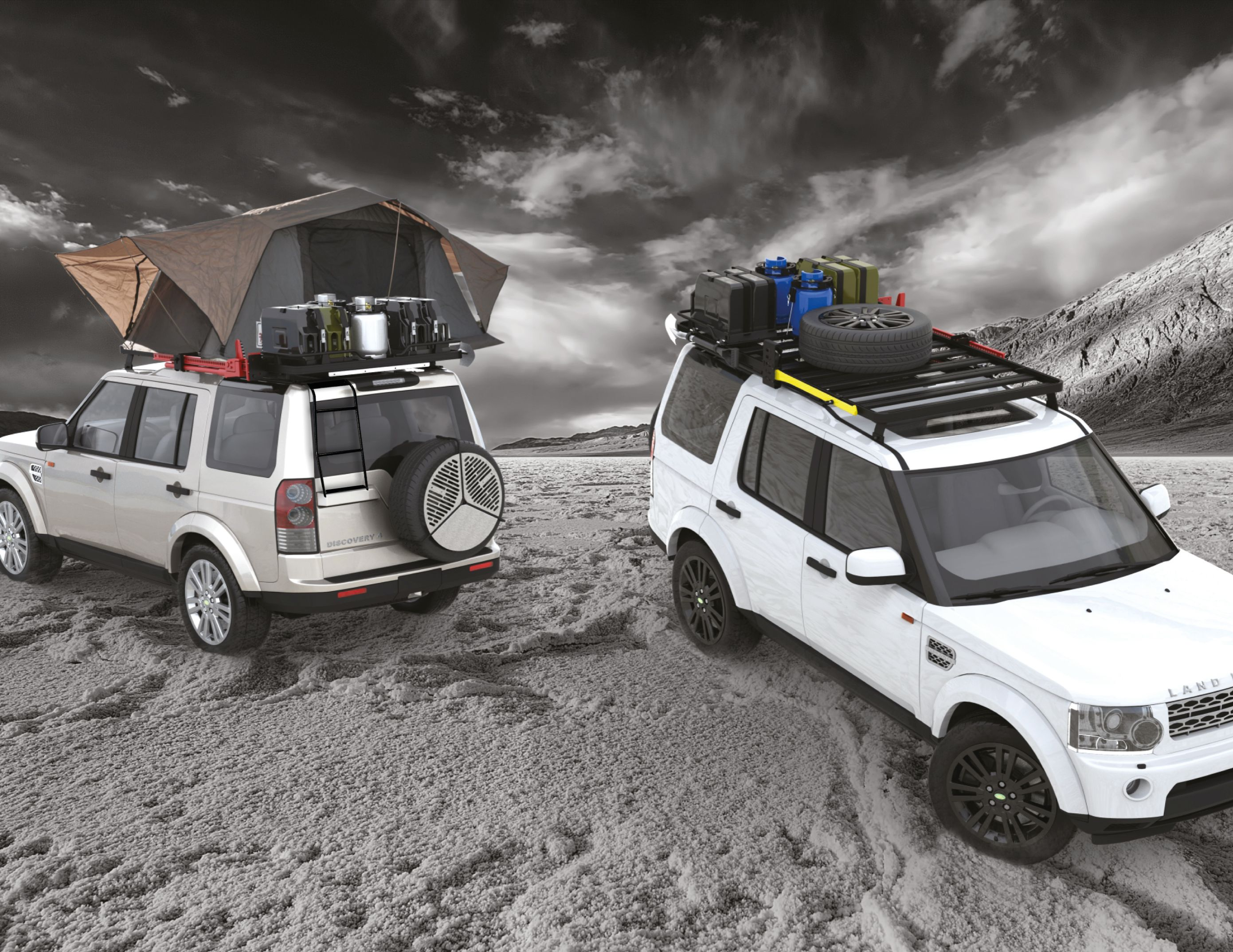 Discovery 3 with front runner expedition roofrack braai and accessories