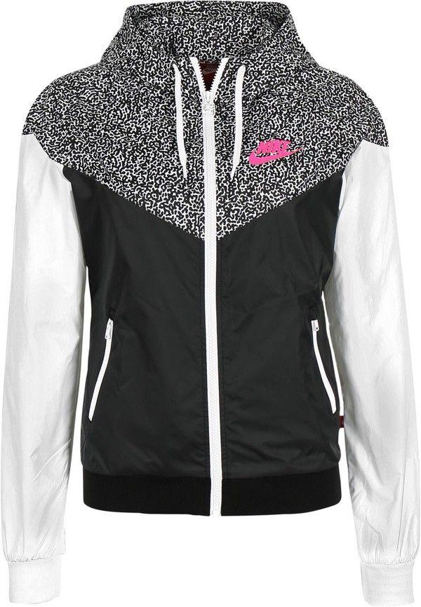 classique à vendre braderie en ligne Nike Veste De Vent Pour Femmes En Noir  Et Blanc e5a872efd38c