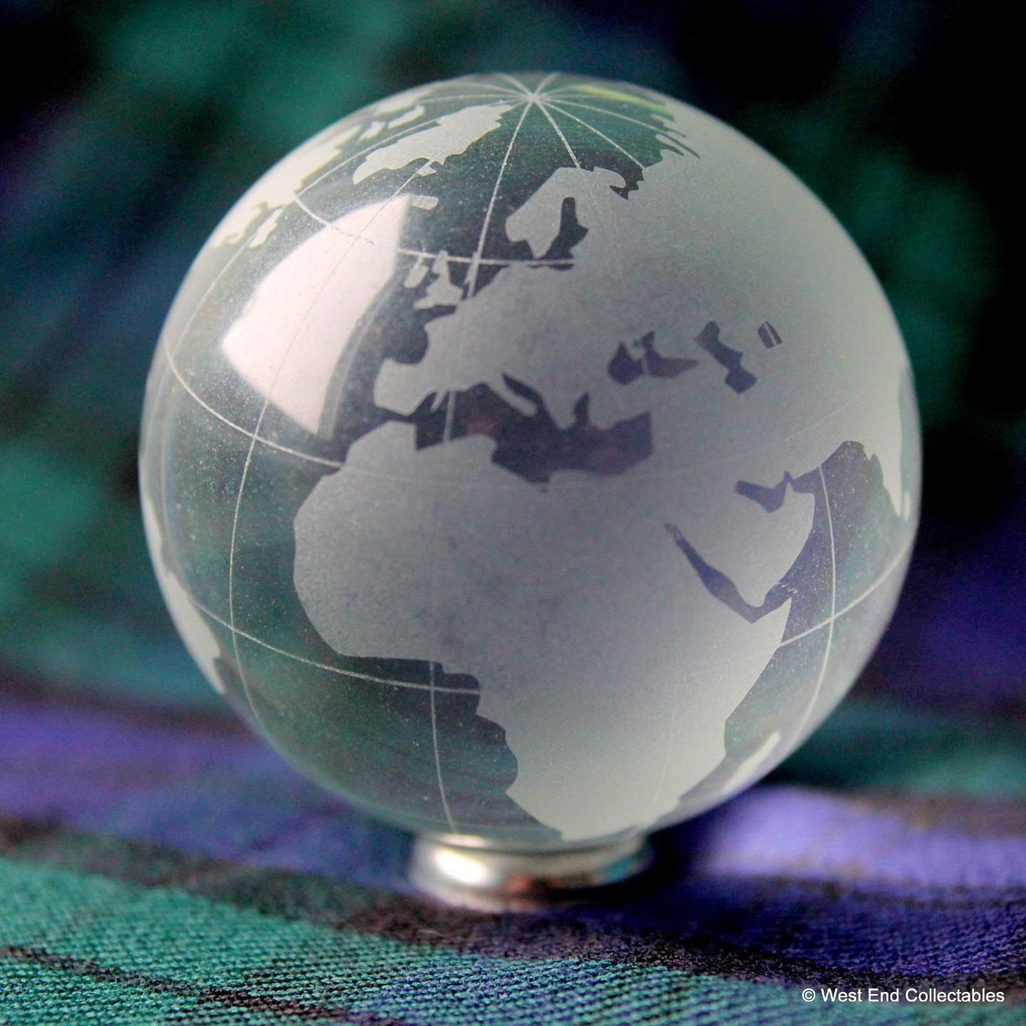 AQUA CRYSTAL Planet Earth Globe Marble Massive 50mm Orrery Solar System 2/""
