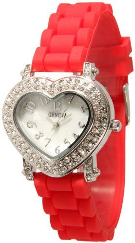 Buy New: $10.99: Just in time for Valentines Day! The Red Silicone Heart Watch!